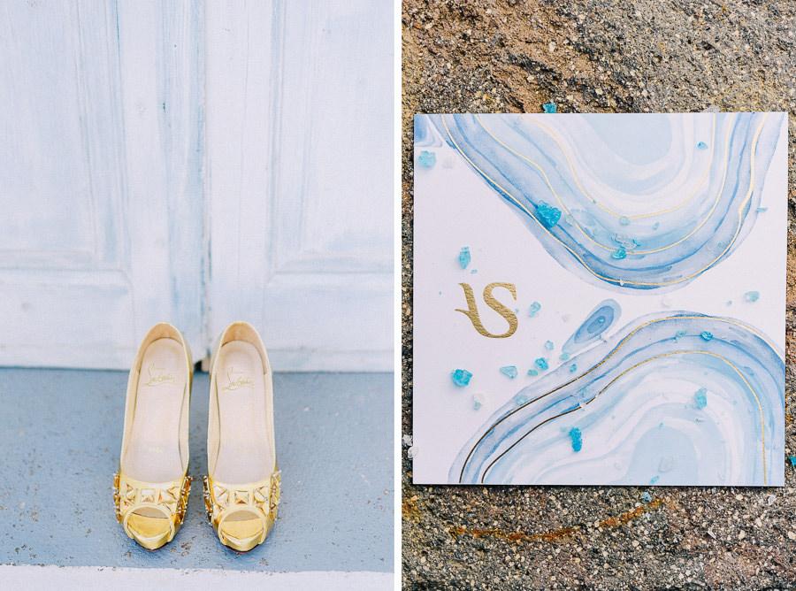 Προσκλητήριο Γάμου Νυφικό Island Club φωτογράφηση