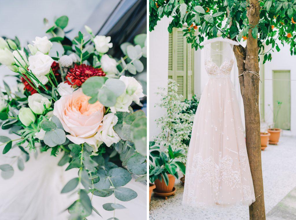 χειμωνιάτικος ρομαντικός γάμος στην Αθήνα