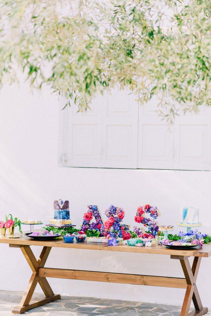Candy Bar πάρτι γάμου Island Club φωτογράφηση