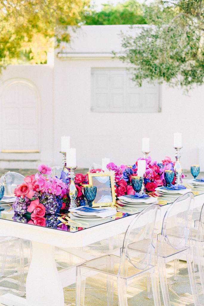 Jewel Tone Styled Shoot wedding athens beach riviera Island