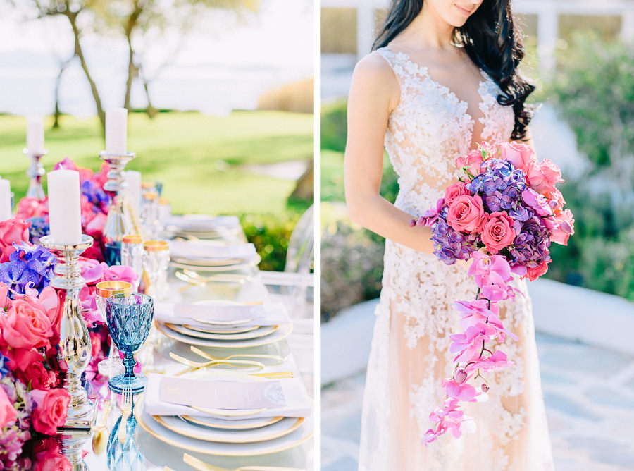 Styled Shoot Wedding Island Club flowers