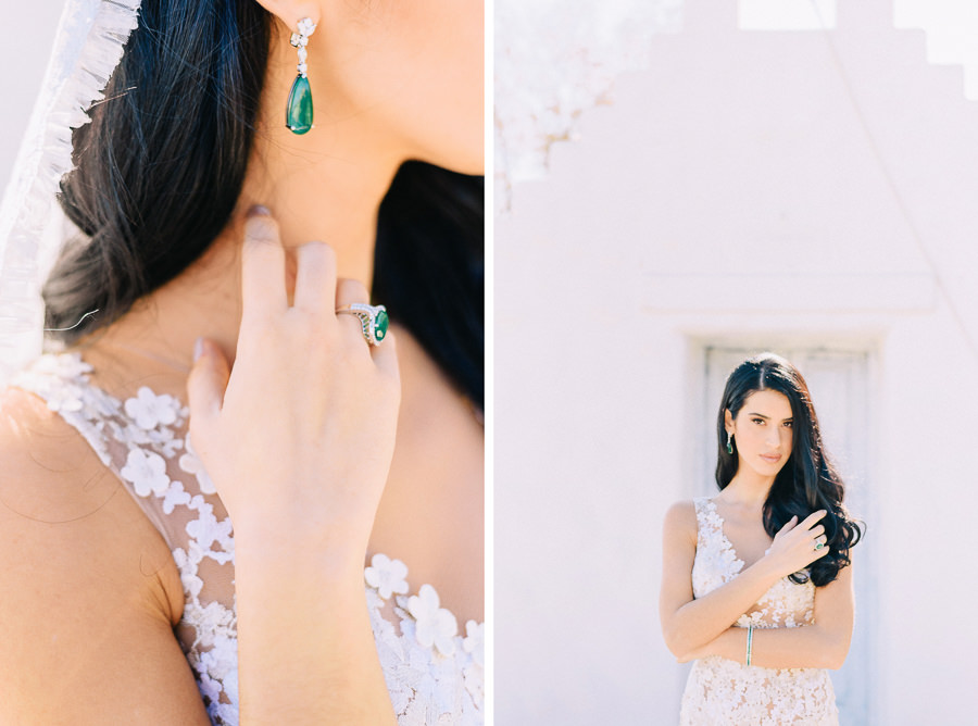 Wedding Dress Jewel Tone Styled Shoot Athens Beach Riviera