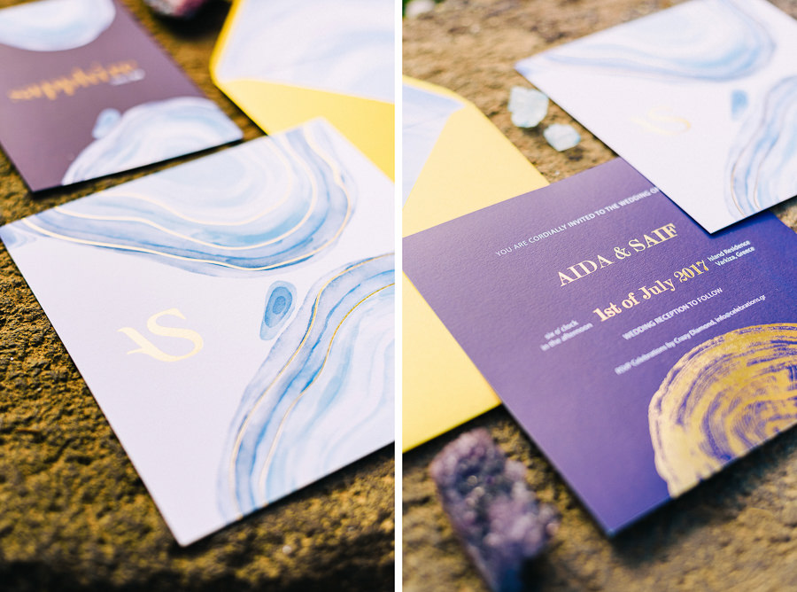 Wedding Invitation cards - Jewel Tone Styled Shoot