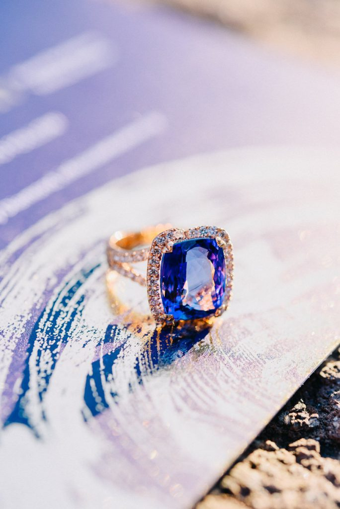 wedding stationery - engagement ring athens beach riviera