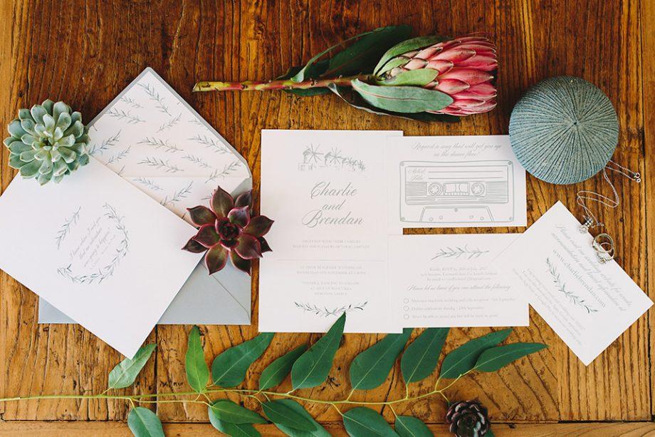 καλοκαιρινό προσκλητήριο γάμου στη Μύκονο