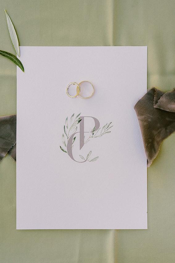 προσκλητήριο γάμου ελιά λογότυπο