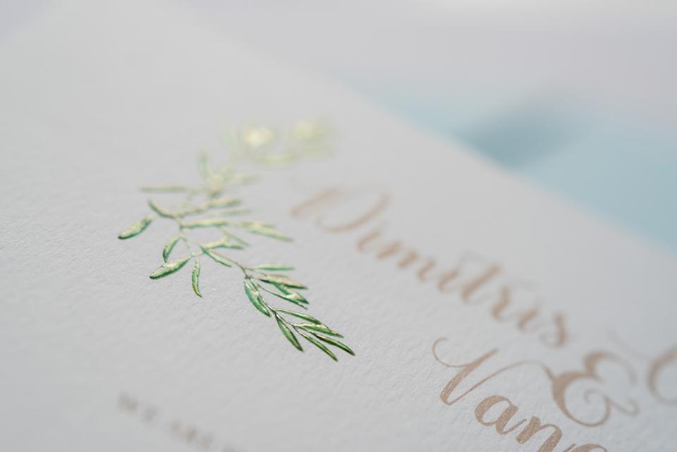 Οlive themed wedding invitations