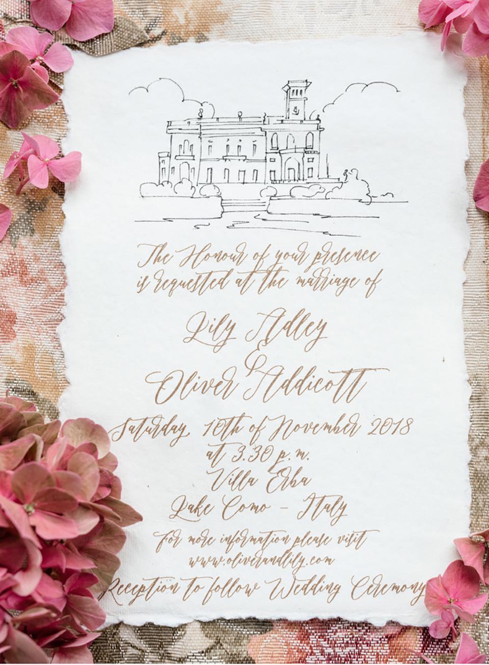 Πολυτελές και Ρομαντικό Προσκλητήριο Γάμου
